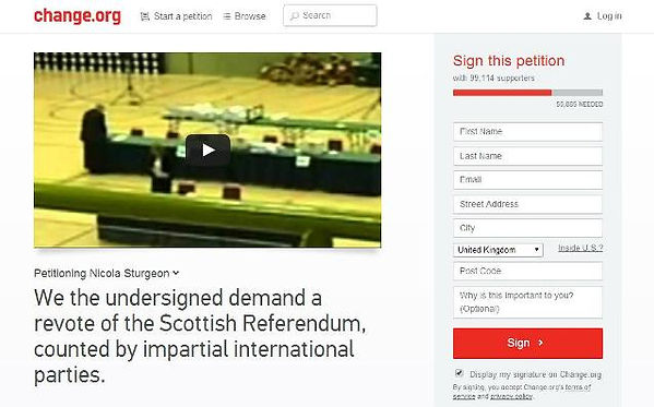Change.org Scottish Referendum