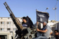 al-Qaeda flag in Benghazi