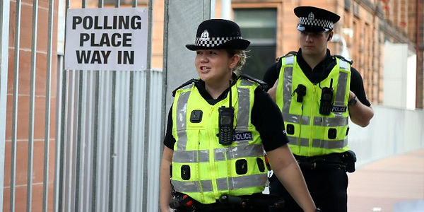 Police presence at Scottish referendum