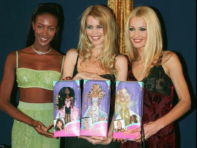 Karen Mulder, Naomi Campbell and Claudia Schiffer