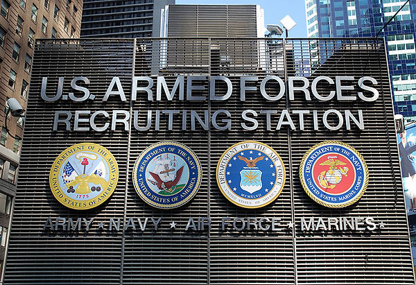 US armed forces recruitment
