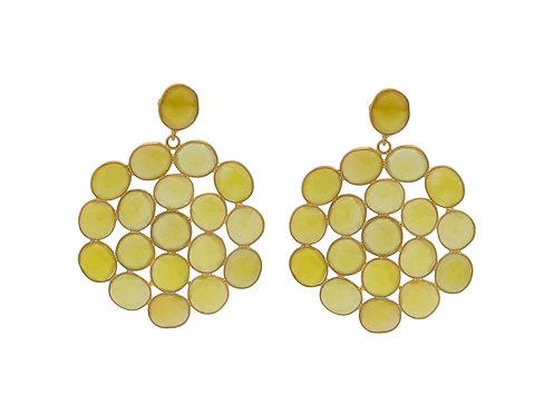 Natural Lemon Quartz Gallery Earrings