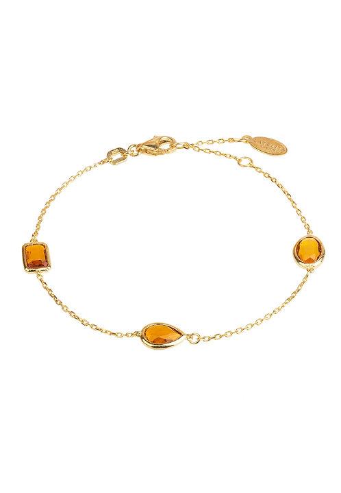 Venice Bracelet Gold Citrine