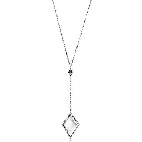 Jeziree Silver Lariat - PRE-SALE- Magnifier Pendant Necklace