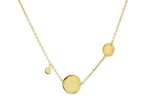 Engravable Golden Greek Discs Necklace
