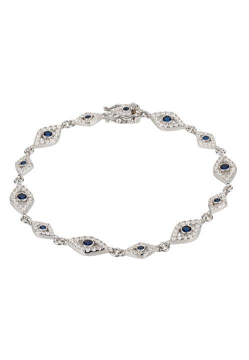 Eye Sparkling Tennis Bracelet Silver