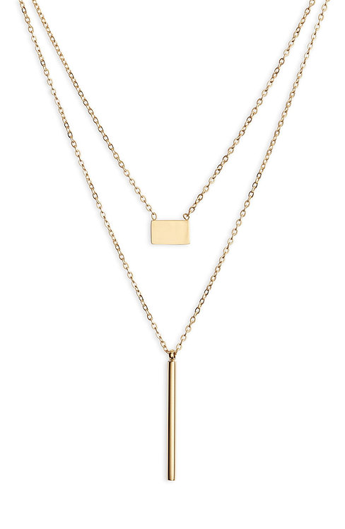 Double Strand Necklace - Gold