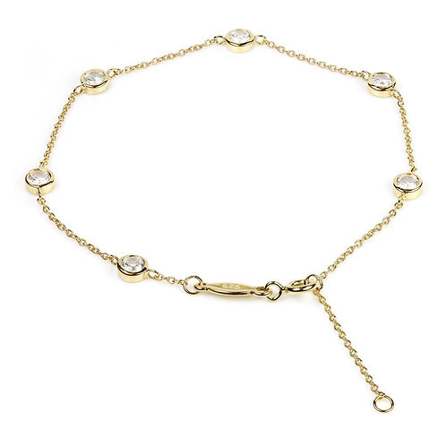Gold Bracelet With Crystal Chelsea-Chain