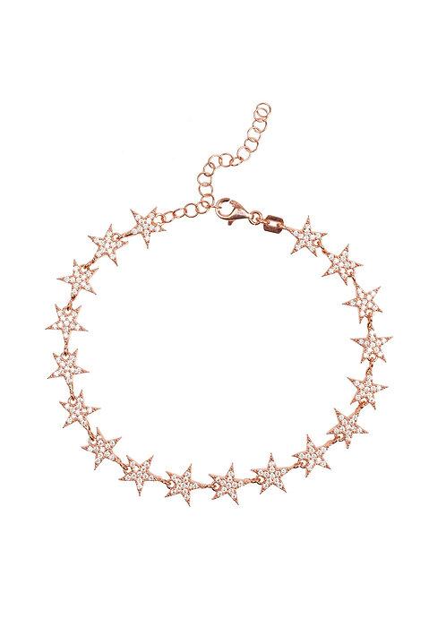 Star Strand Tennis Bracelet Rosegold