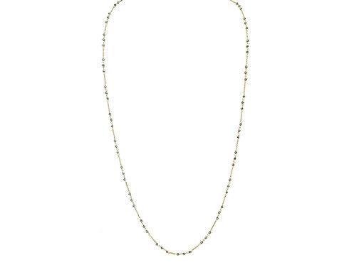 "Italian Hematite Nuggets Necklace, 40"""