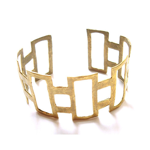 Hammered Rectangle Cuff