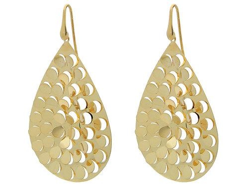 Fluttering Gold Hook Earrings