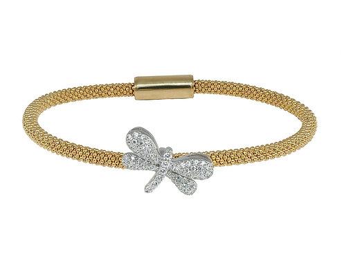 Sparkling Golden Dragonfly Bracelet