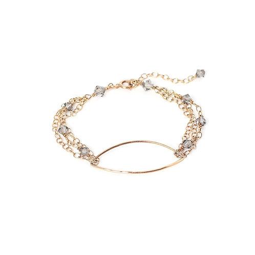 Oval Bracelet With Swarovski Crystals