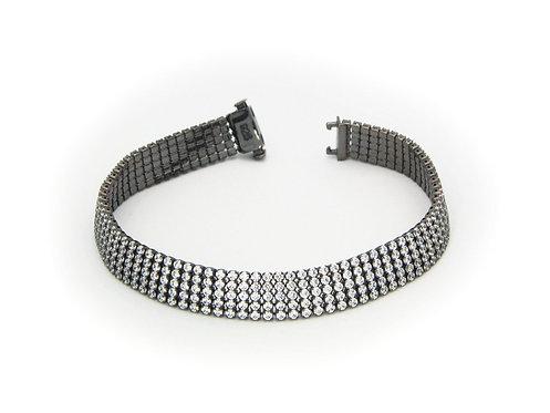 Gunmetal Black 5 Row Tennis Bracelet