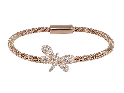 Sparkling Pink Dragonfly Bracelet