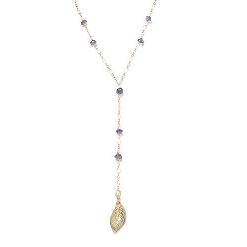 Y-Shaped Iolite Necklace