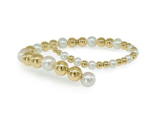 Golden Bubbles & Pearls Bracelet