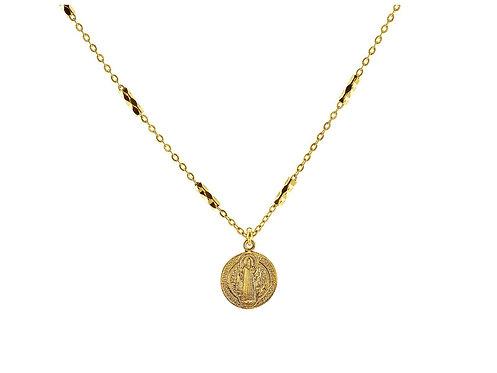 Golden San Benito Medallion Necklace