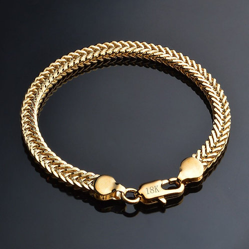 Classic Shiny Gold Snake Chain Bracelet Male Female Jewellery