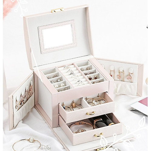 Jewelry Box Mirrored Large Capacity Storage Boxes for Jewellery