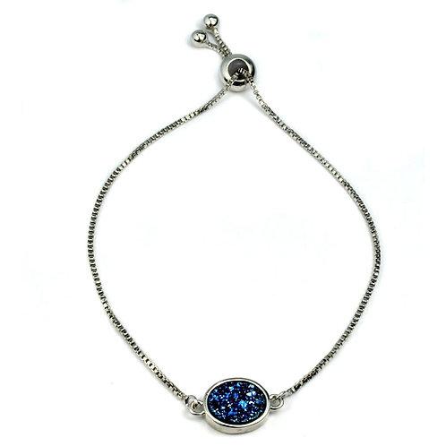 Brandy Small Oval Bracelet in Silver