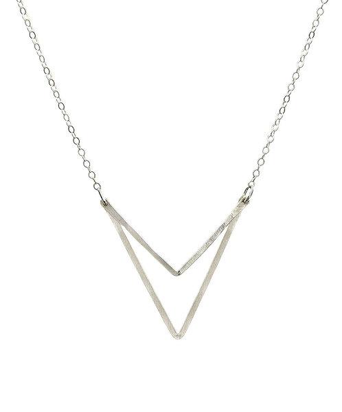 Sari Double Triangle Necklace