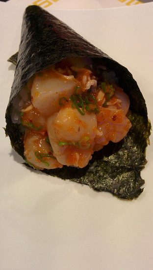 Spicy Scallop Handroll