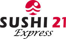Sushi 21 Express Logo (Transparent Backg