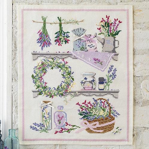 Cross Stitch Tapestry <Lavender>