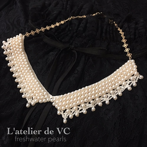 Freshwater Pearls Crochet Necklace Material Kit