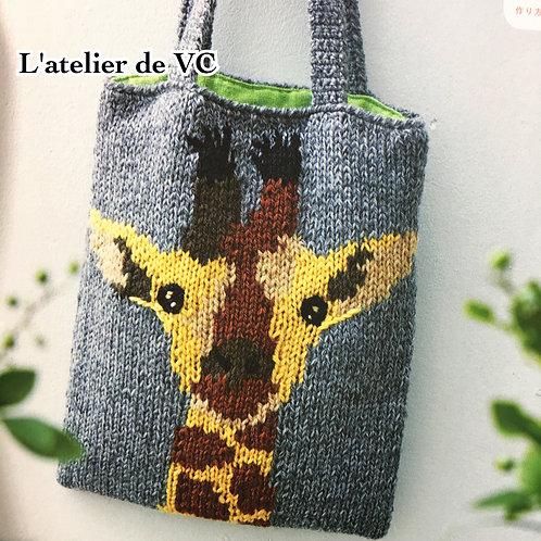 Knitting Giraffe Bag