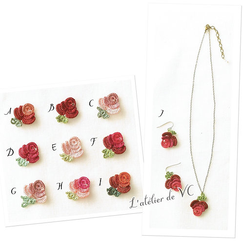 Rose Motif Necklace & Ear Rings material