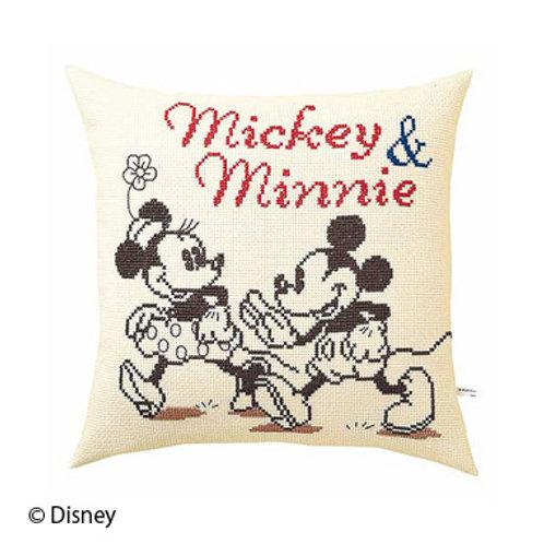 Mickey & Minnie Cross Stitch Cushion Cover
