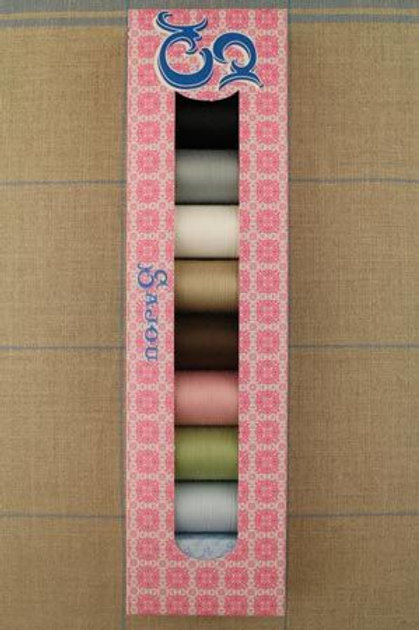 SAJOU SELECTION BOX - EIGHT SPOOLS ALL PURPOSE THREAD - 100M