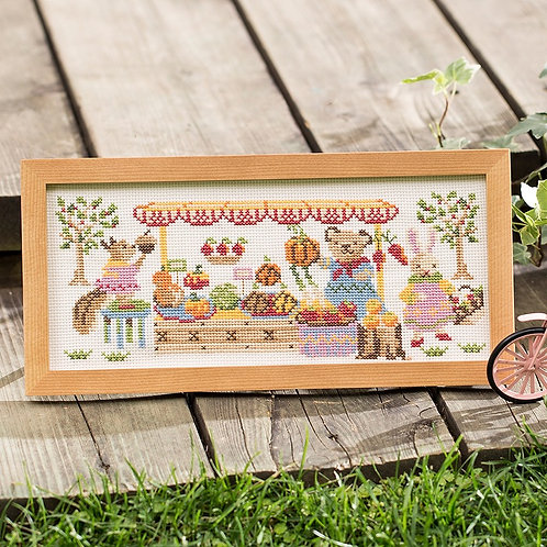 Cross Stitch Frame <Marche in the Forest>