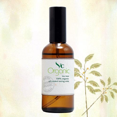 Tea Tree 100% Organic Oil Control Toning Mist100ml