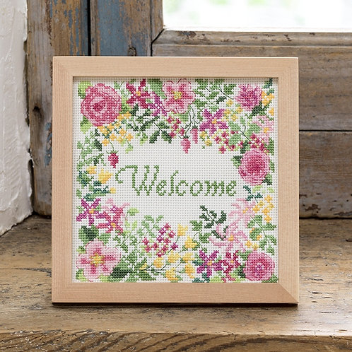 Cross Stitch Frame <Welcome>