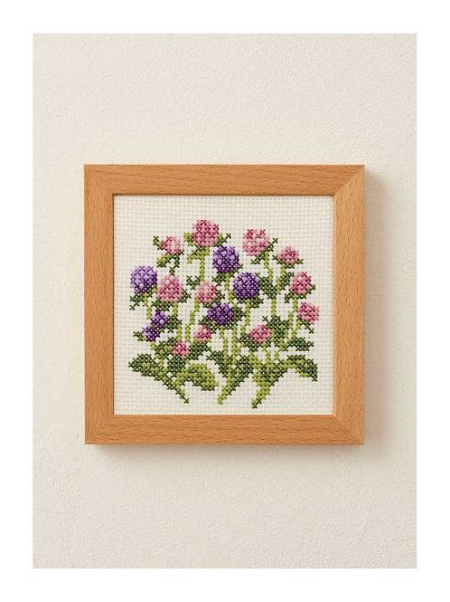 Cross Stitch Frame <Globe Amaranth>