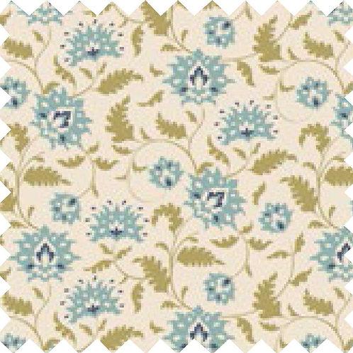 Tilda Ahlia Teal Fabric (by 0.5m)