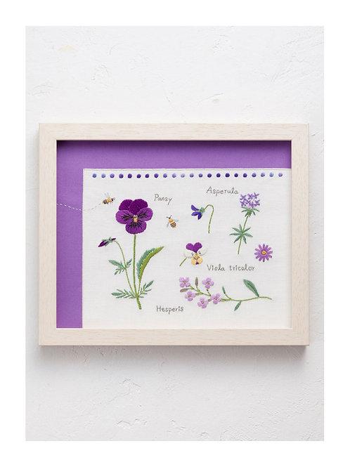 青木和子 6 Colors Embroidery Kit - Purple
