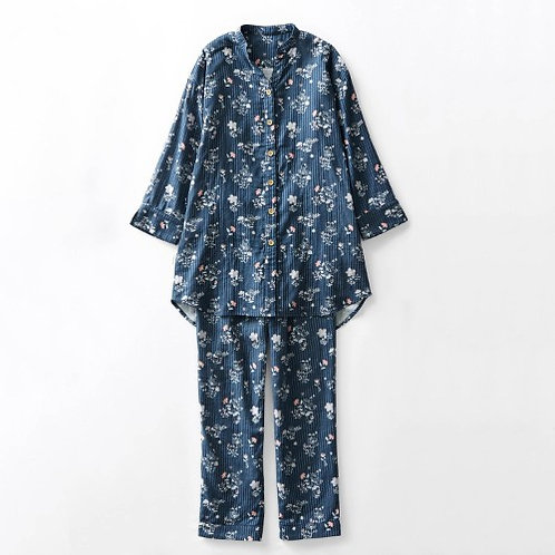 Hello Kitty Long Sleeve Pajamas -BLUE