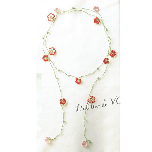 Japanese Apricot Motif Necklace material