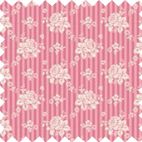 Tilda Emily Pink Fabric (by 0.5m)