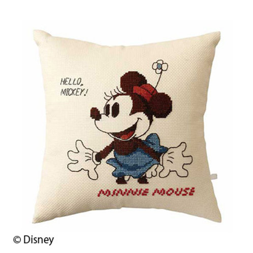 Minnie Mouse Cross Stitch Cushion Cover