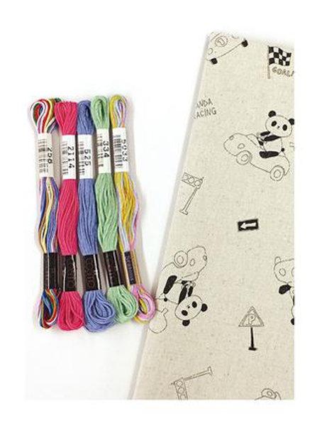 Panda Fabric Embroidery Kit