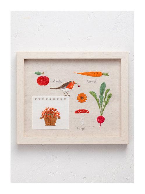 青木和子 6 Colors Embroidery Kit - RED