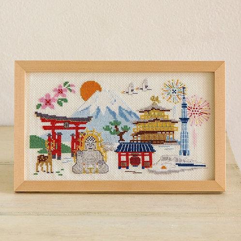 Cross Stitch Frame <Japan Trip>