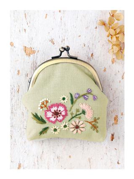Flower Embroidery Coins Bag Material Kit