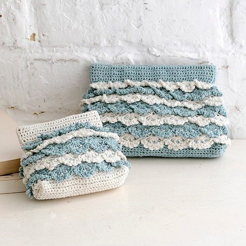 Frill Spring Clasp Pouch (Material Set)